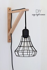 DIY Cage Light Sconces | Home and Heart DIY