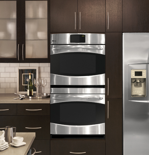 kitchen aid double oven utensils holder 30″ built-in convection wall from ge ...