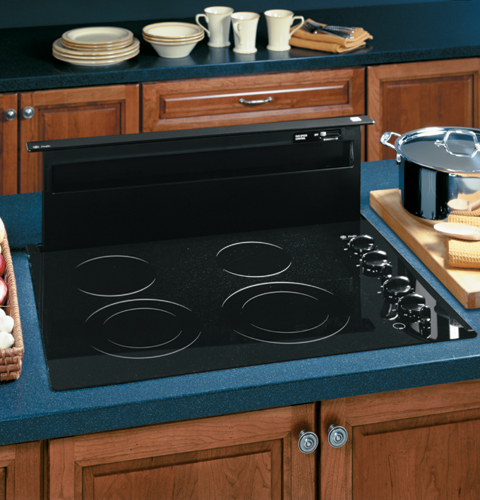 Ge Profile 36 Telescopic Downdraft Hood System Black
