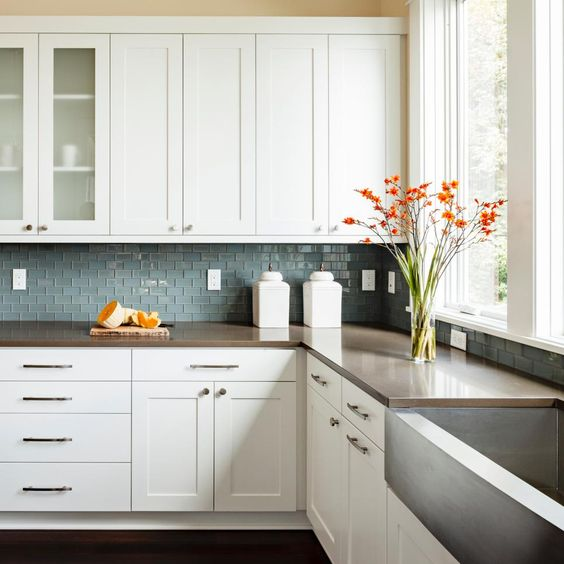 how to clean grease from kitchen cabinets fix faucet white shaker discount [trendy] in queens ny