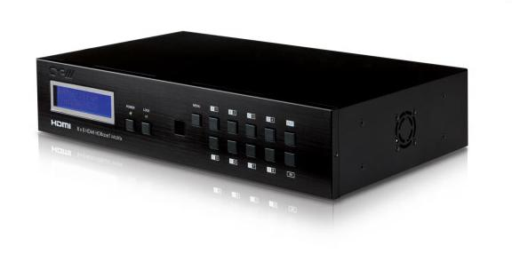 8x8 Hdmi Matrix Switcher With 3d Over Cat5 8 Receivers Included