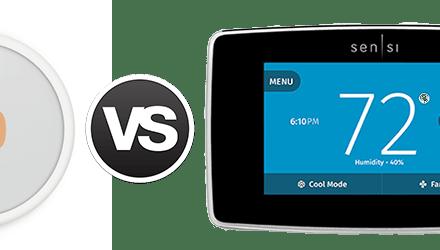 Nest E vs Emerson Sensi Touch Wi-Fi Thermostat