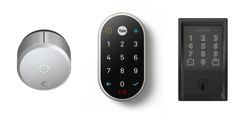 Nest x Yale vs August lock pro vs Schlage Encode