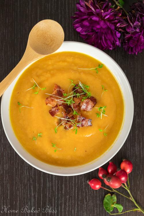 Sweet Potato Carrot Leek Soup