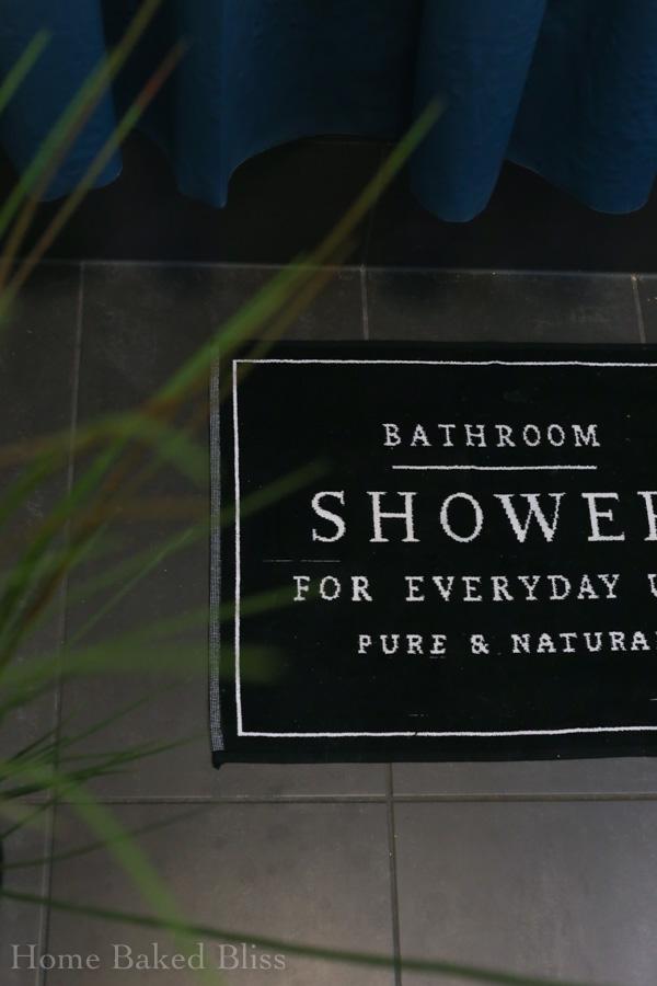 spa bathroom, bathroom, bathroom decor, decorate bathroom, IKEA bathroom, bamboo bathroom, dark bathroom, wellness bathroom