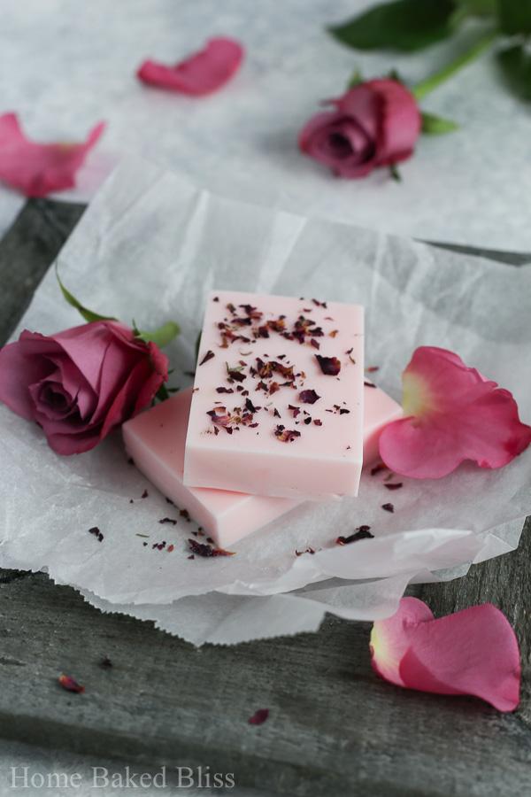rose soap, how to make rose soap, diy rose soap, rose soap recipe, soap base, how to make soap