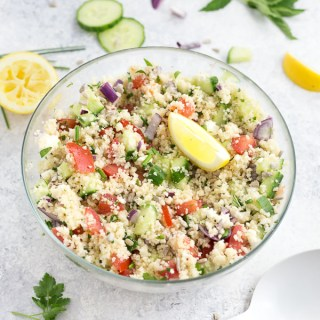 A bright and zingy couscous salad made with fresh summer veggies and herbs