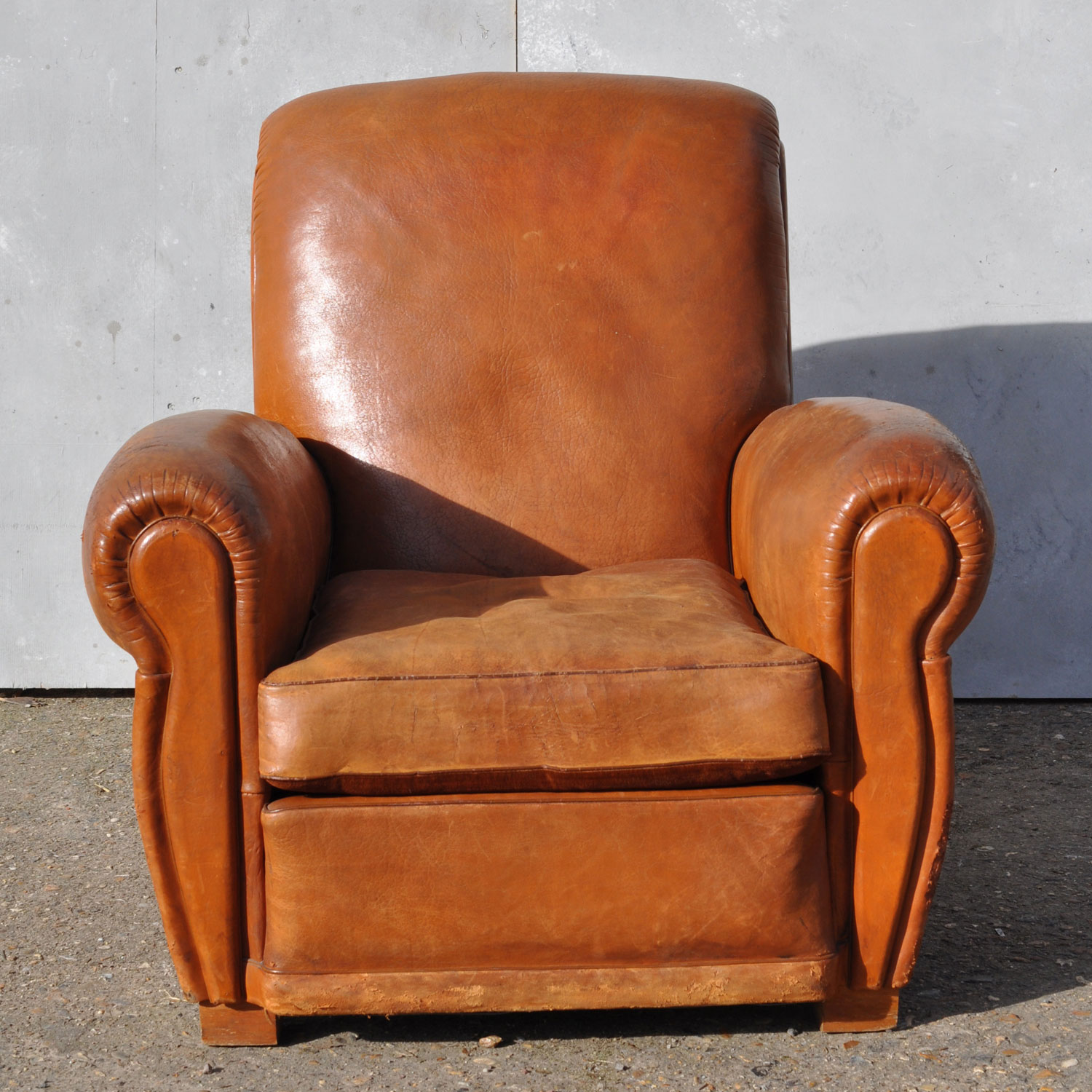 Vintage Club Chairs Antique French Leather Club Arm Chair Loire