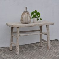 White Rustic Elm Console Table - Home Barn Vintage