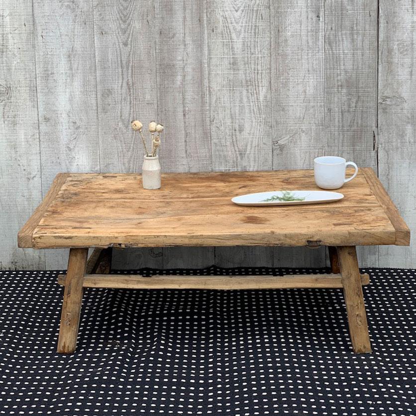 reclaimed rustic wood coffee table