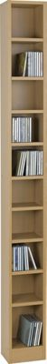 Maine Tall DVD and CD Media Storage Tower - Beech Effect.
