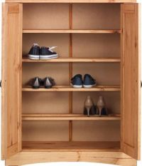 Puerto Rico 2 Door Shoe Storage Cabinet - Solid Antique ...