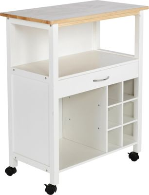 Kitchen Trolley With Wine Rack