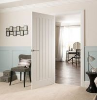 Cottage Moulded Primed Woodgrain Internal Door - 762mm Wide