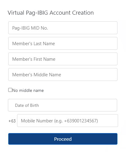 Step 2: Pag-IBIG Online Account Registration
