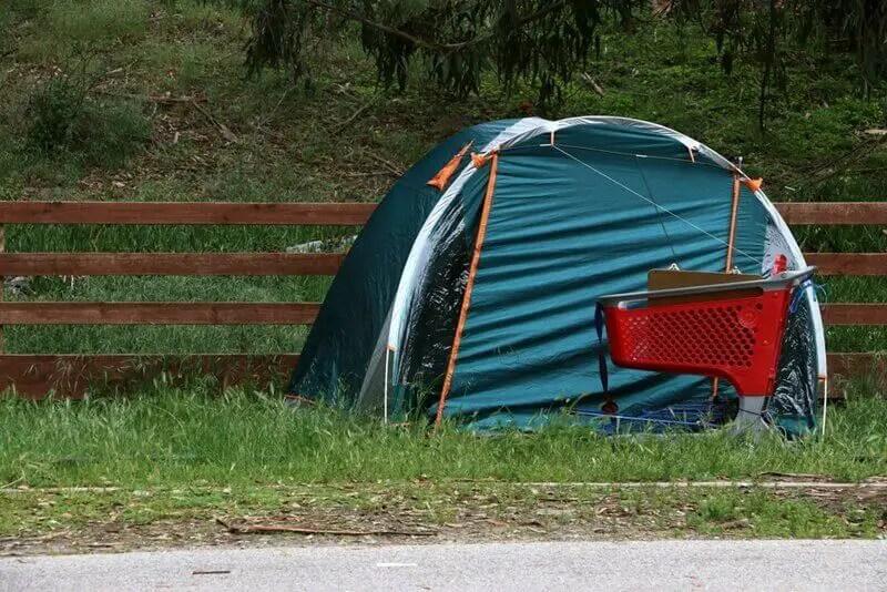 Tent for homeless