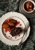 Őszi brownie desszert