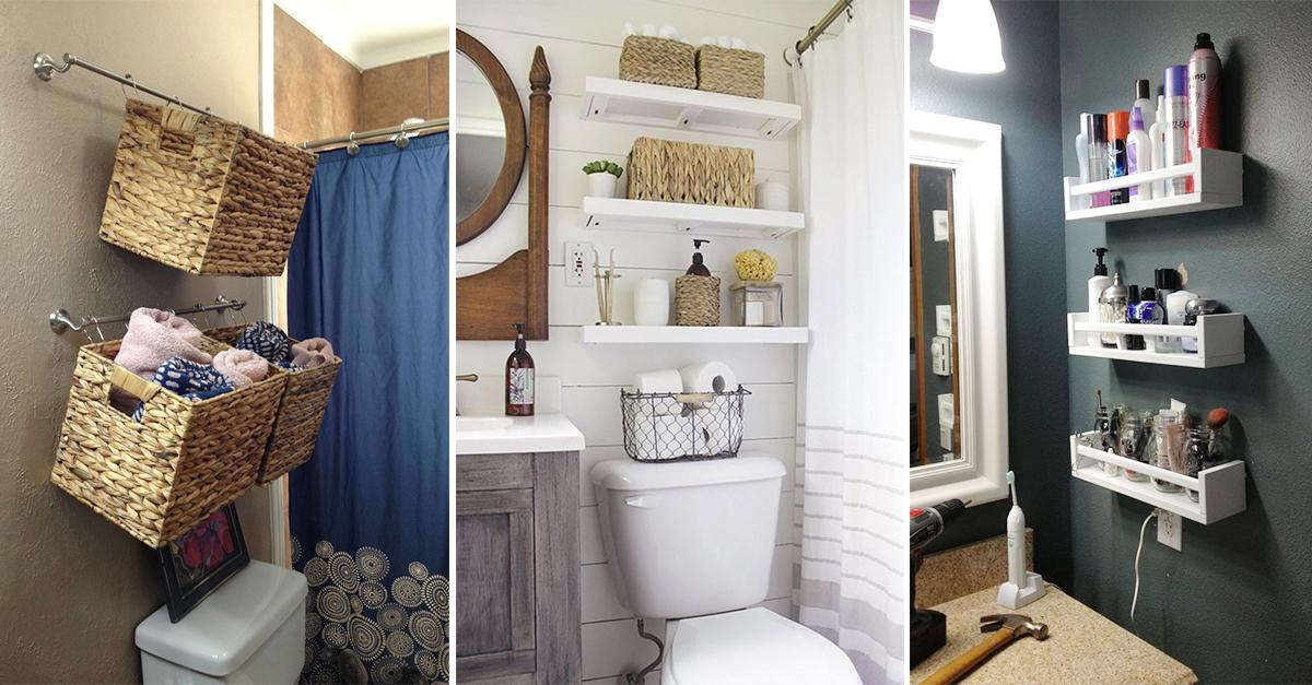 16 Clever Tiny Bathroom Storage Hacks