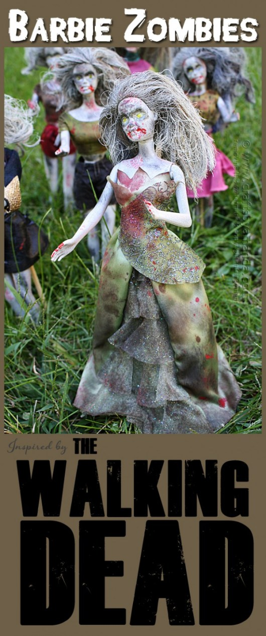 Walking Dead Barbie Zombies for Halloween