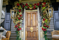 Garland Door & Christmas Balls Wreath Door Wall Ornament ...