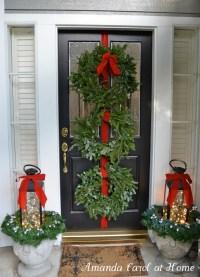 Front Door Christmas Decor  Homebnc