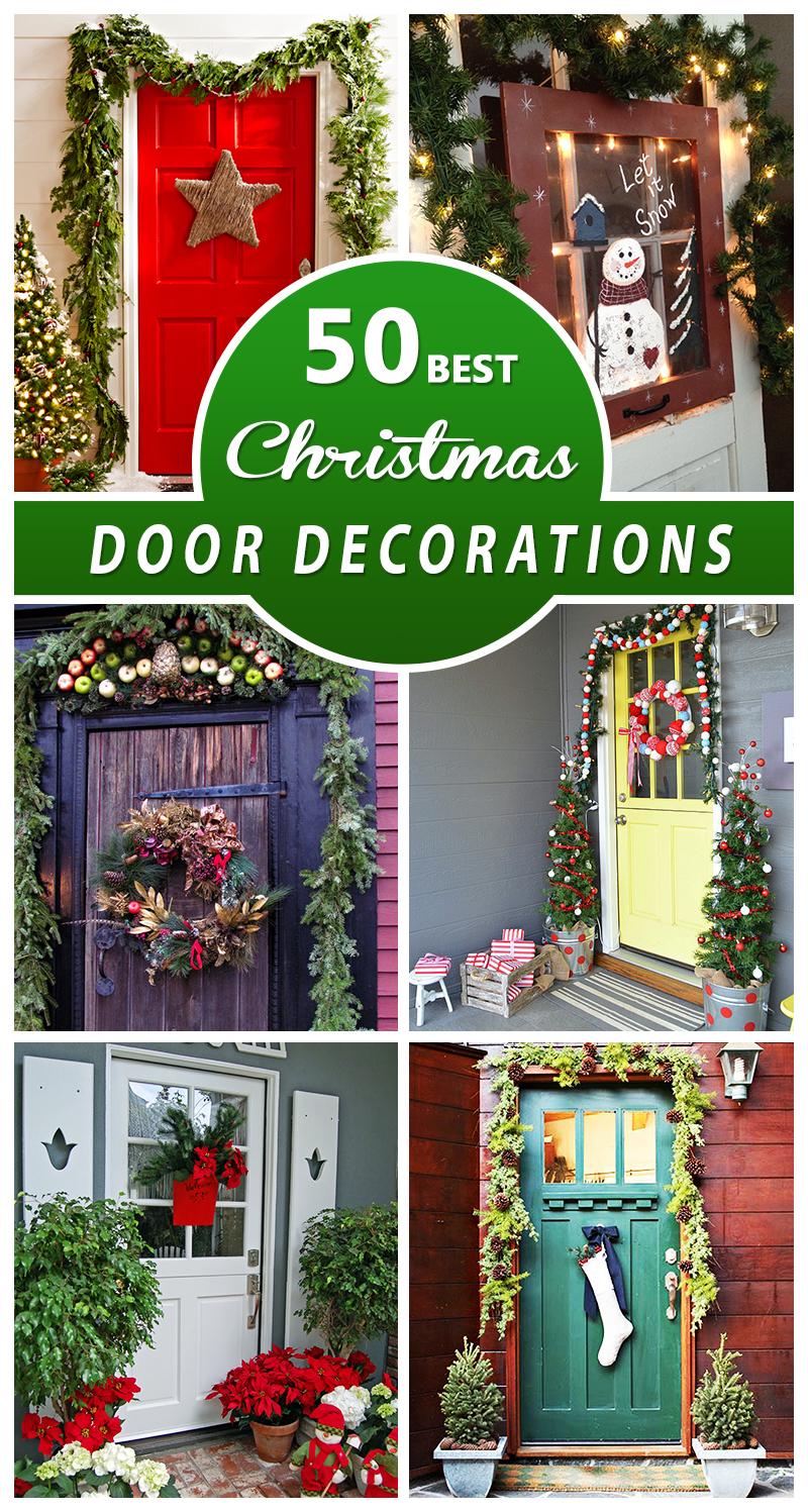50 Best Christmas Door Decorations for 2016