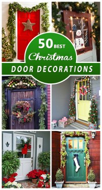 50 Best Christmas Door Decorations for 2016