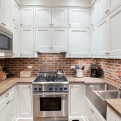 Brick Backsplash In Kitchen Island Cabinet Base 50 Best Ideas For 2019