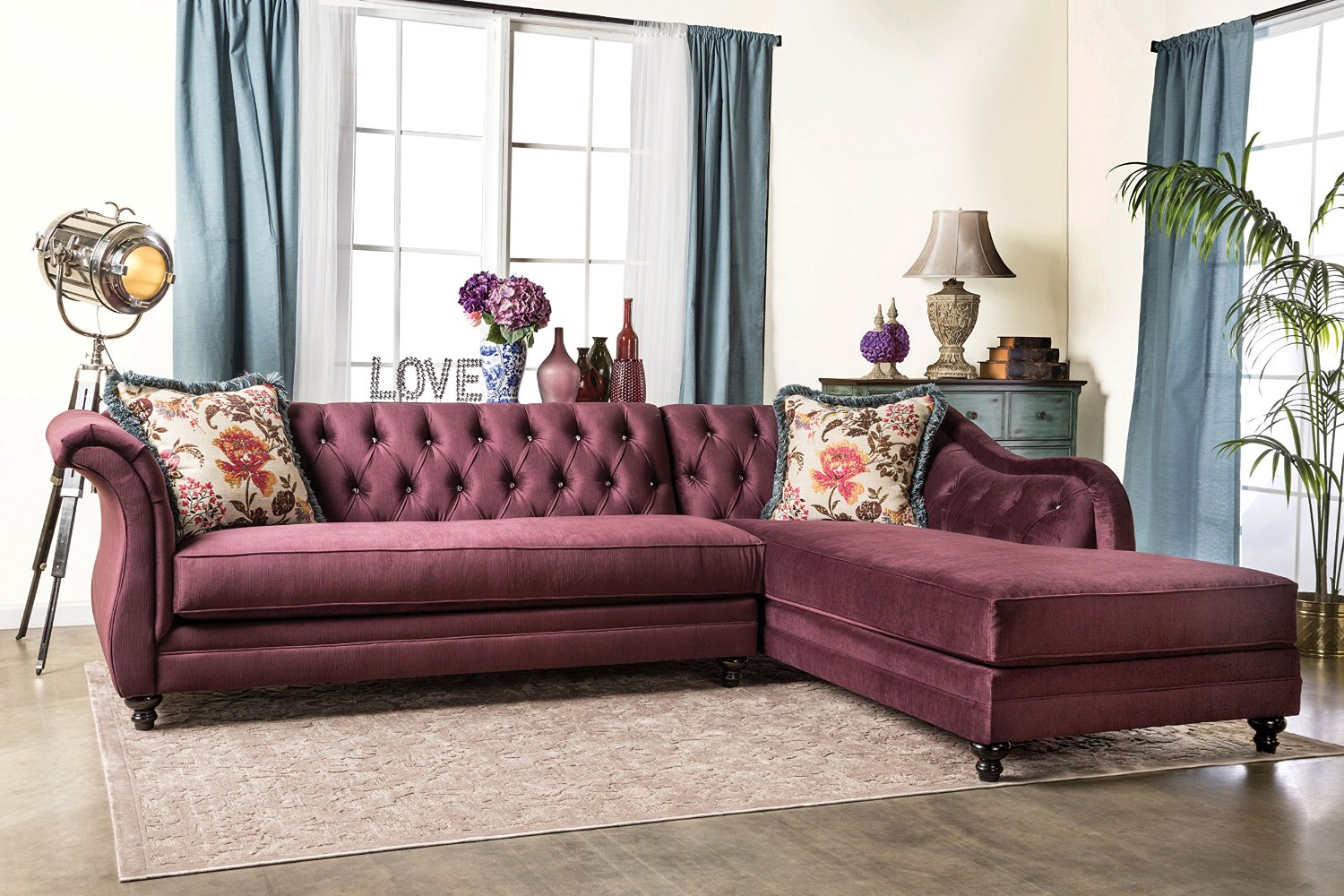 glam sofa set best sleeper sofas consumer reports 25 chesterfield to buy in 2019 furniture of america 2 piece corinee glamorous sectional