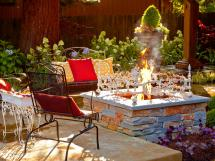 Back Yard with Fire Pit Design Ideas