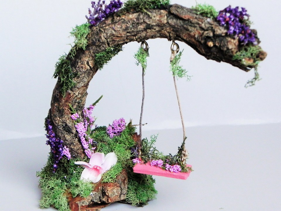 fairy Garden Ideas: Swing high swing low miniature garden ideas