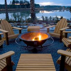 Fire Pit And Adirondack Chairs Walmart Chair Pads 50 Best Outdoor Design Ideas For 2018