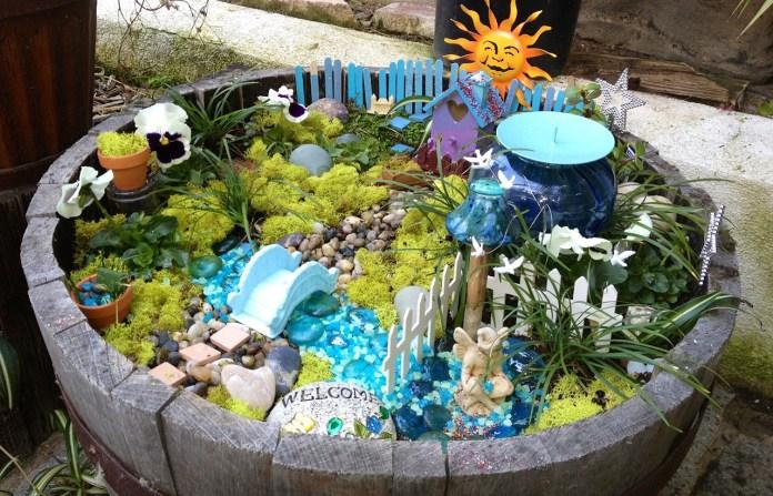 Fairy Garden Ideas: A barrel of summer fun fairy garden ideas