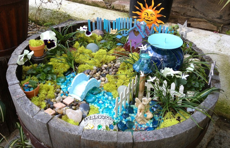 Fairy Garden Ideas: A barrel of summer fun fairy garden ideas
