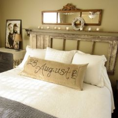 Bedroom Decorating Ideas In Living Room Small Scale Furniture For 33 Best Vintage Decor And Designs 2019 28 Reclaimed Door Turned Floating Headboard
