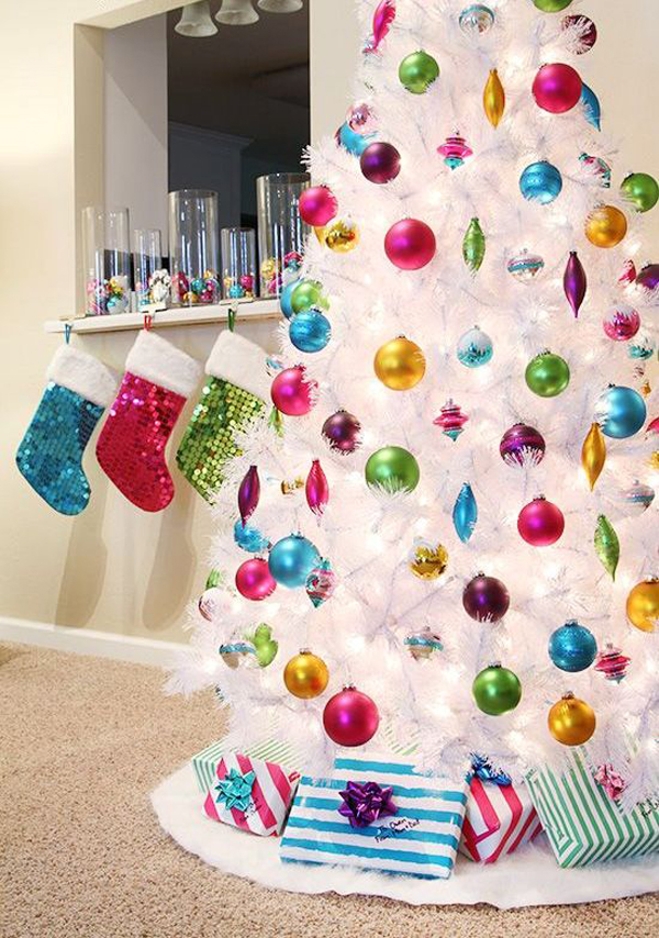 White Christmas Tree Decorating Ideas Pictures