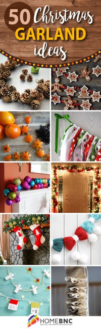 50 Best DIY Christmas Garland Decorating Ideas for 2018