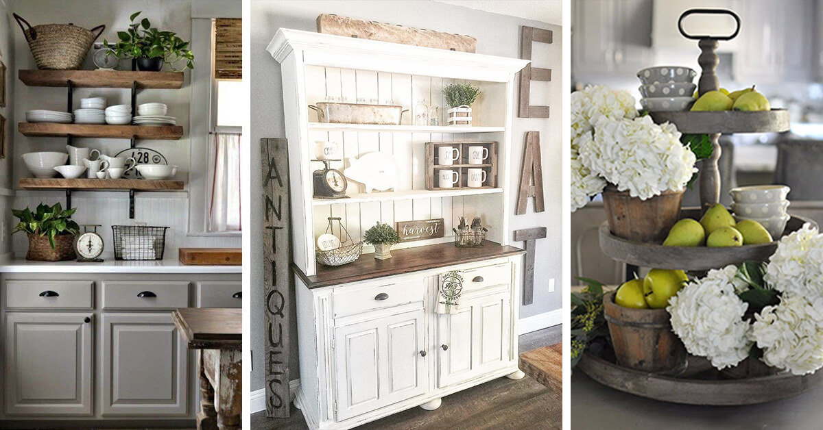 kitchen deco hutches 38 best farmhouse decor and design ideas for 2019 dreamiest to fuel your remodel