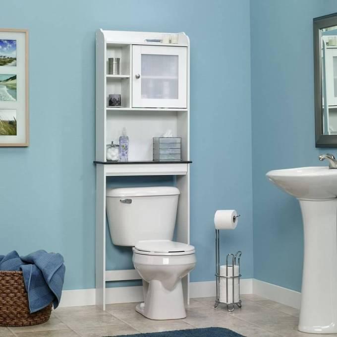 Sauder Caraway Etagere Bath Cabinet