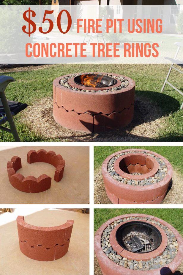 $50 Concrete Tree Ring Firepit