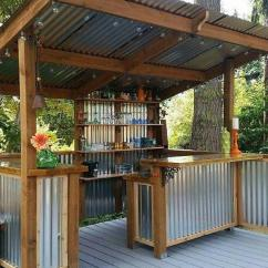Outdoor Kitchen Bar Table Round 27 Best Ideas And Designs For 2019 Diy Corrugated Metal