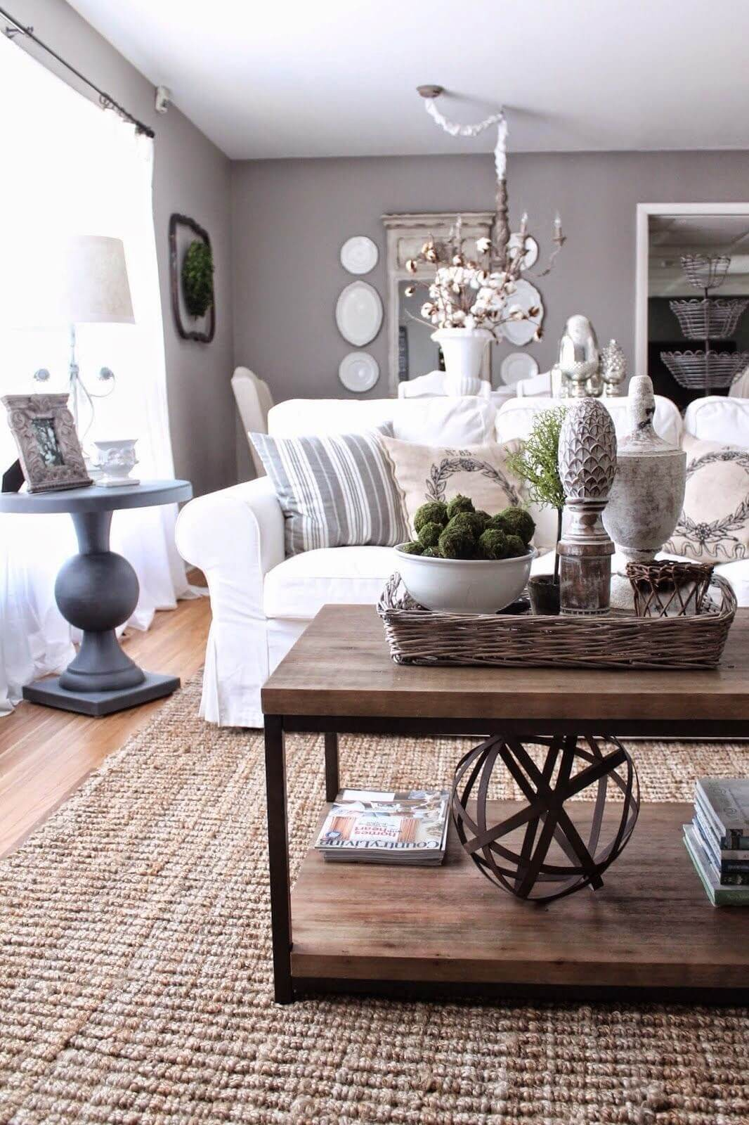 decoration ideas for living room table furniture bay area 37 best coffee decorating and designs 2019 double decker display of geometric art natural accents