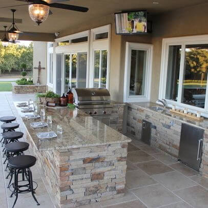 backyard kitchen designs booth table 27 best outdoor ideas and for 2019 patio with bar sink mini fridge