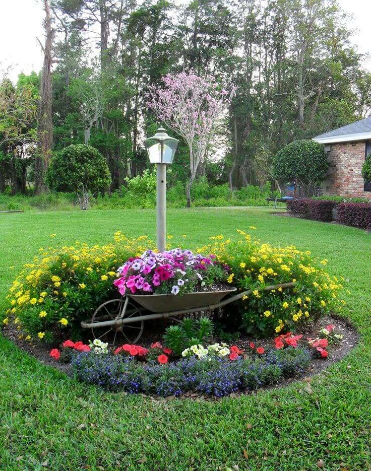 фантазия красивого цветника клумбы на даче фото гипсокартона нишами