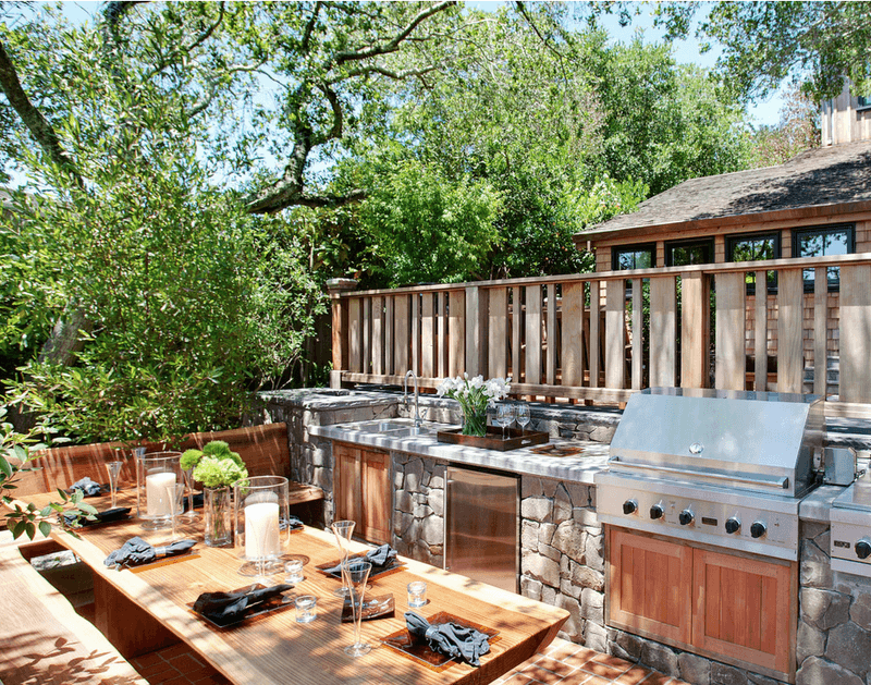 grill for outdoor kitchen industrial island 27 best ideas and designs 2019 with built in sink