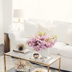 Coffee Tables For Small Living Rooms Room Ideas With Brown Corner Sofa 37 Best Table Decorating And Designs 2019 Retro Glam Gold Glass Floral Display