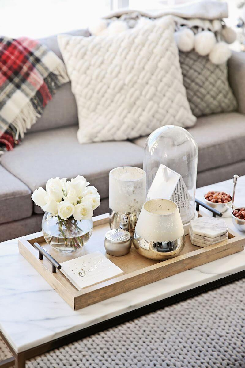 living room side table decoration ideas ebay furniture 37 best coffee decorating and designs for 2019 glass gold tray display on a marble topped