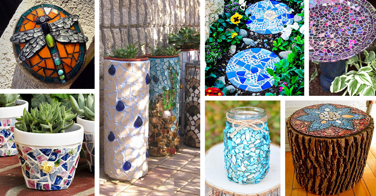 ideas for wall decorations living room coffee tables narrow rooms 28 best diy garden mosaic (designs and ...