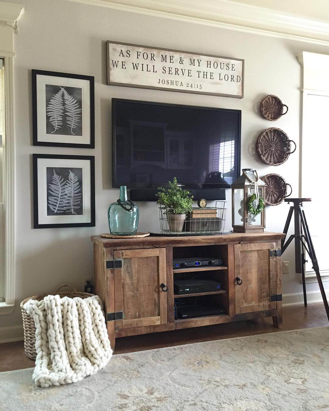 ideas for walls in living room colors with beige furniture 35 best farmhouse decor and designs 2019 2 rugged barnwood television console cabinet
