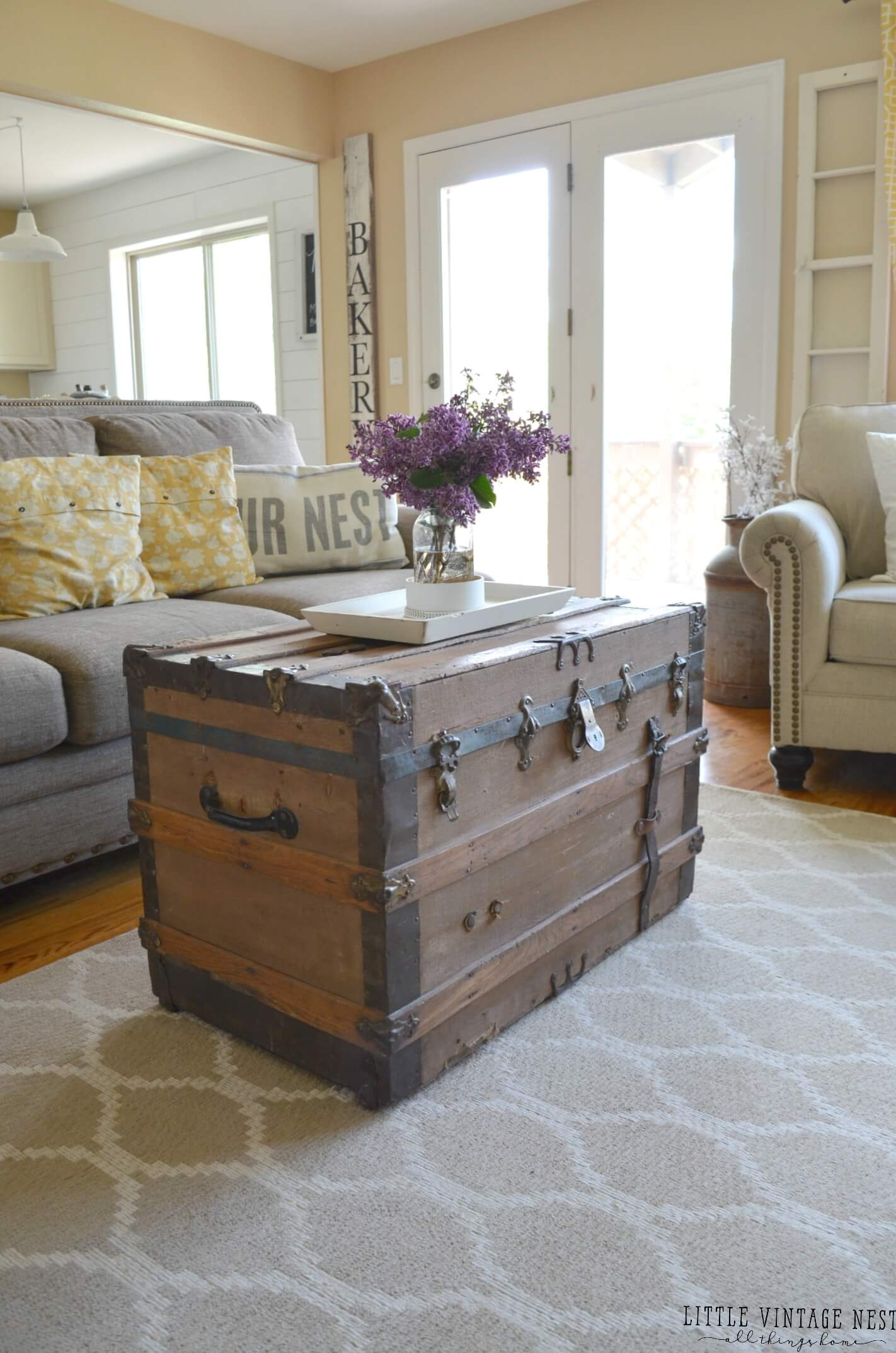 how to decorate a large living room with little furniture decorating small rooms on budget 35 best farmhouse decor ideas and designs for 2019 antique steamer trunk coffee table